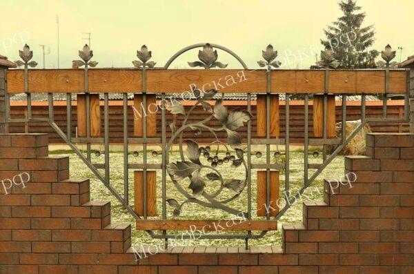 Кованый забор ворота и калитка Артикул № КЗ-2020-01