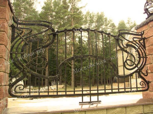Кованый забор с заклепками Артикул № КЗ-2020-02