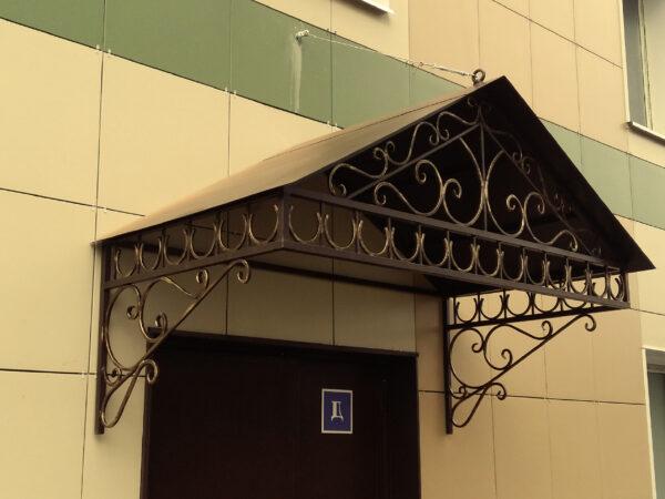 Кованые козырьки для офиса Артикул № 063