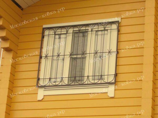 Сварная решетка на окно Артикул КР-007