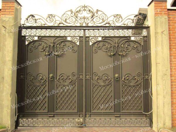 Большие кованые ворота Артикул КВ-089