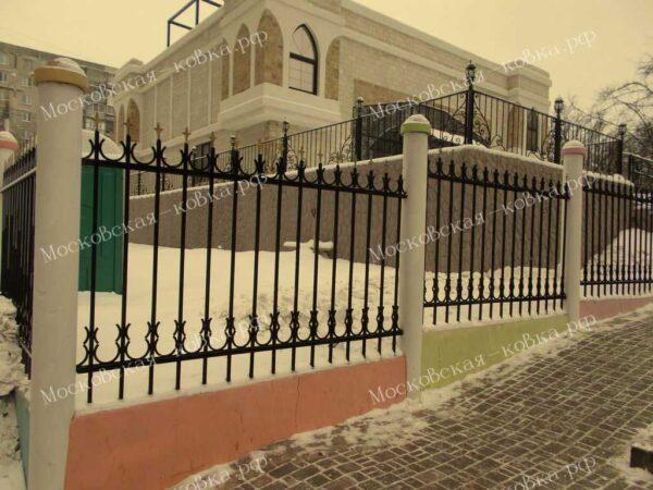 Сварной забор с полукольцами Артикул № КЗ-2020-11