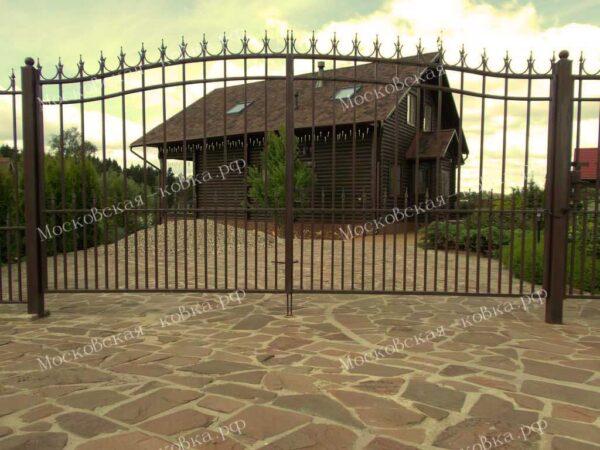 Недорогие ворота для дачи Артикул КВ-101