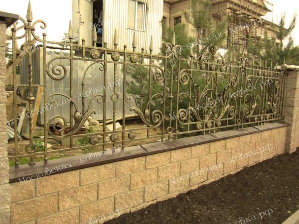 Кованый забор высотой 1 метр Артикул № КЗ-2020-09