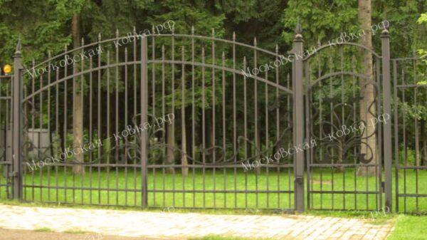 Бюджетные сварные ворота и забор для дачи Артикул КВ-108