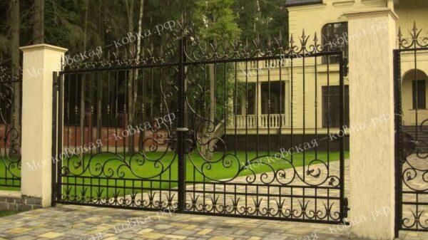 Кованые ворота и калитка Артикул КВ-107