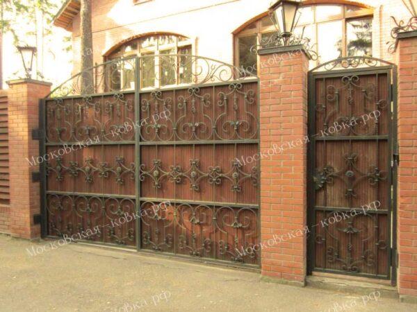 Кованые ворота глухие Артикул КВ-085