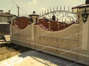Кованый забор цвета старой меди (2)