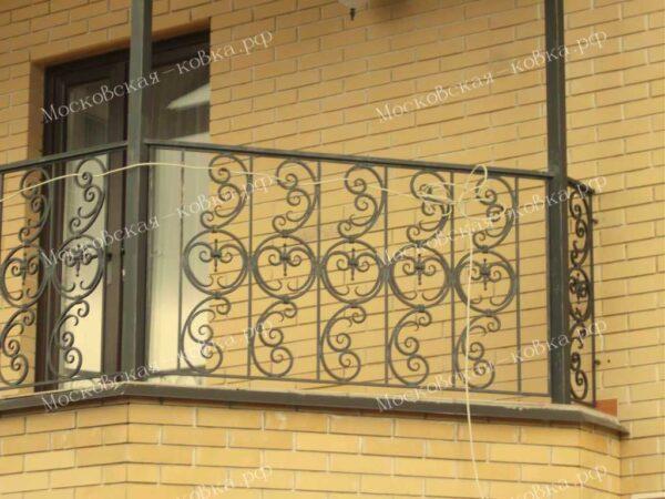 Кованые уличные перила для балкона АРТИКУЛ КП 2020-07