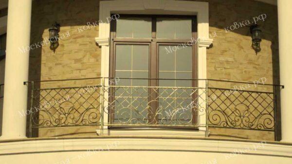 Кованые перила для уличного балкона АРТИКУЛ КП 2020-10
