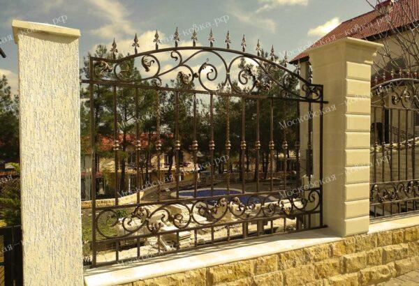 Кованый забор ворота и перила Артикул № КЗ-2020-04