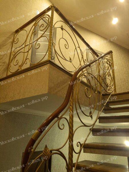 Кованые ограждения лестниц АРТИКУЛ КБ-089