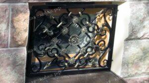 Кованая решетка на окно подвала (2)
