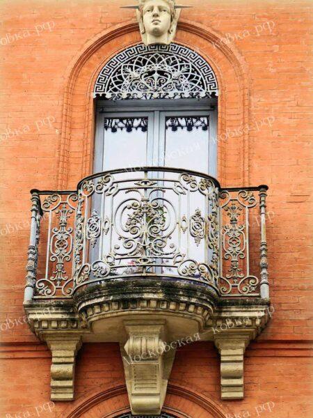 Кованые балконы в Тулузе (Франция ) АРТИКУЛ КБ-092
