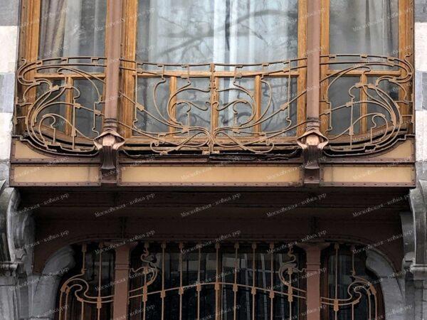 Кованые балконы в стиле модерн ( Брюссель ) АРТИКУЛ КБ-091