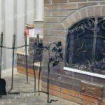 Каминный набор и решетка кованые