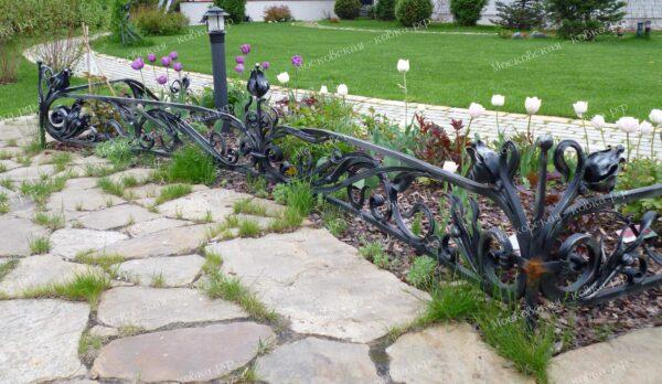 Элитный кованый заборчик для сада Артикул № КЗ-2020-20