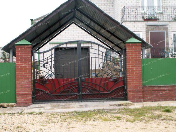 Ворота и калитка в стиле модерн Артикул КВ-121