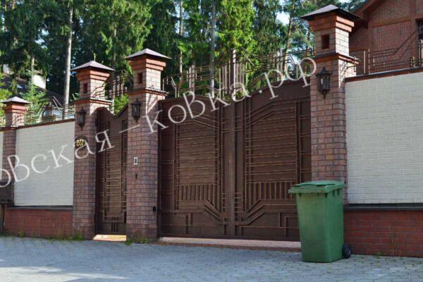 Ворота с геометрическим рисунком Артикул КВ-124