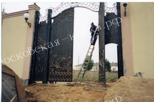 Громадные кованые ворота Артикул КВ-127