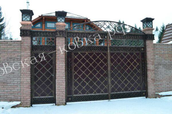Кованые ворота в восточном стиле Артикул КВ-131