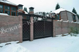 Кованые ворота в восточном стиле -(4)