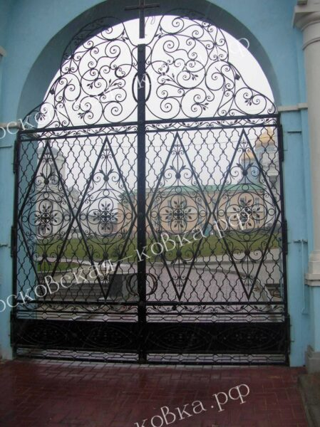 Кованые ворота для храма Артикул КВ-132