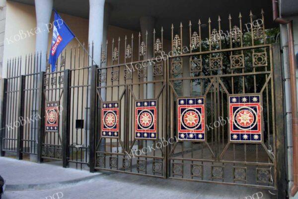 Кованые ворота и балкон Артикул КВ-133