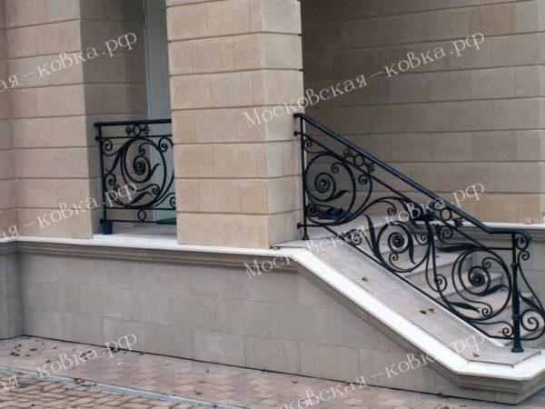 Кованые уличные перила для балкона и крыльца АРТИКУЛ КП 2020-69