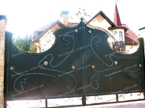 Оригинальные кованые ворота калитка и забор Артикул КВ-147