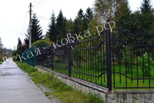 Забор и ворота из профильной трубки с пиками Артикул № КЗ-2020-26