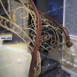 Кованые перила для лестниц дизайнерские