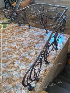 Кованые перильца в растительном стиле