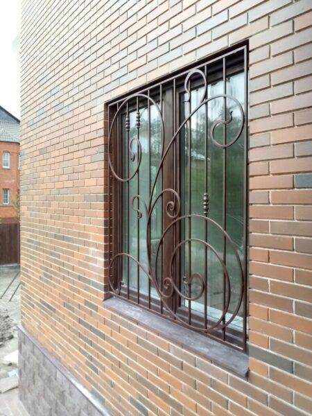 Кованые решетки на большие окна Артикул КР-027