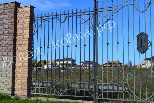 Кованый забор высотой 2 метра Артикул № КЗ-2020-34