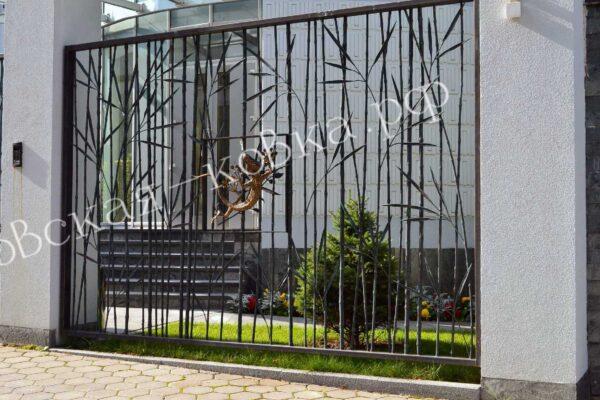 Кованый забор в виде бамбука Артикул № КЗ-2020-33