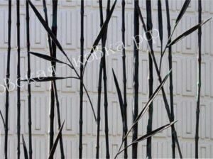 Кованый забор в виде бамбука