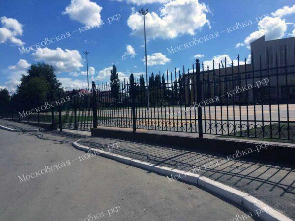 Кованый забор для госучреждений Артикул № КЗ-2020-35