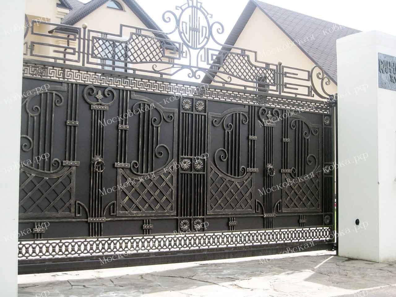 Премиальные кованые откатные ворота
