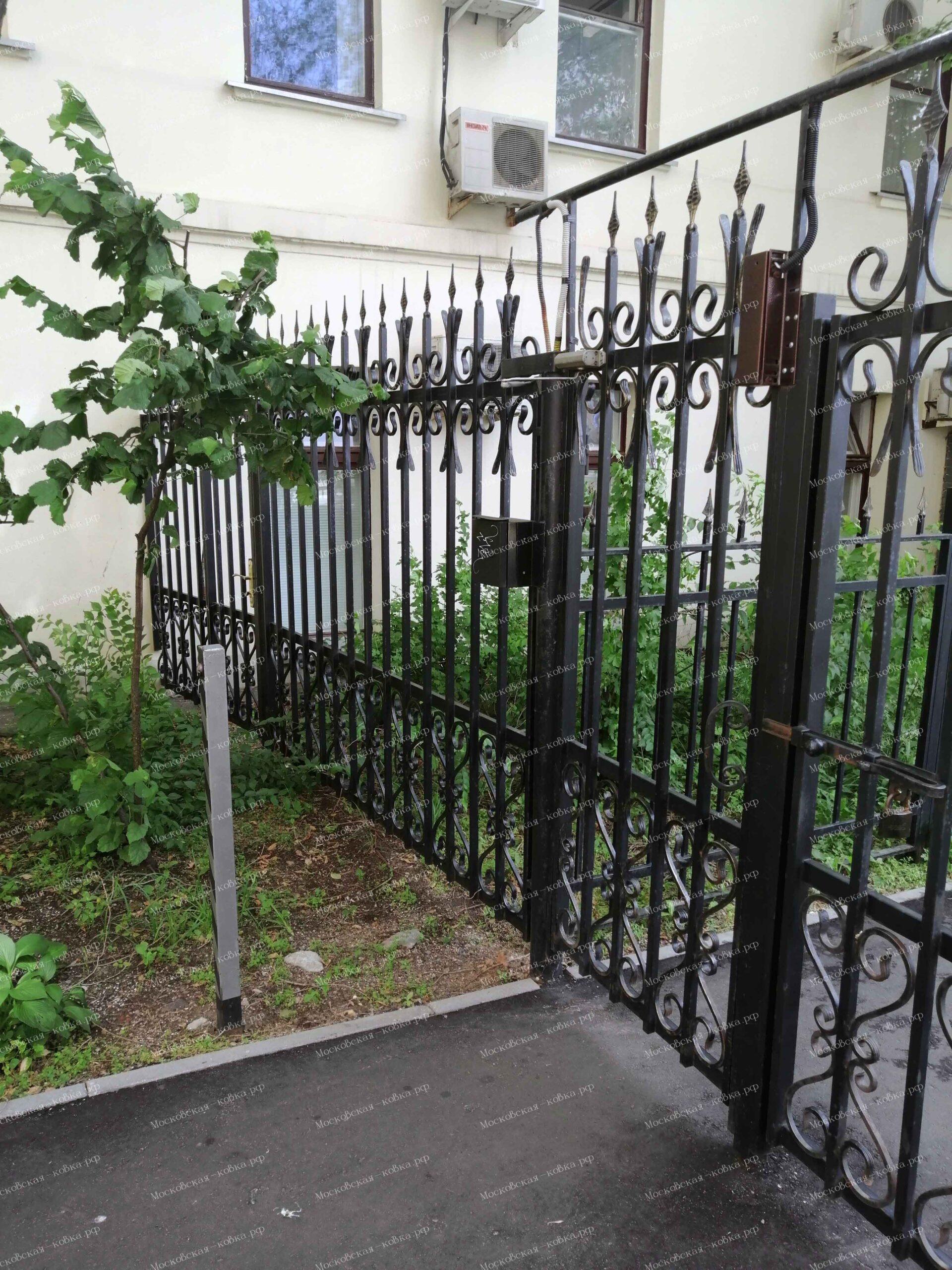 Малая Дмитровка 15 кованый забор